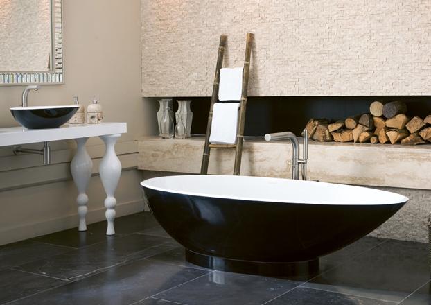 Albert Badewanne freistehende badewanne napoli aus quarrycast in hochglanz weiss