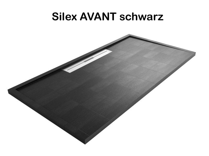 duschtasse bodeneben duschwanne ultraflach modell silex avant. Black Bedroom Furniture Sets. Home Design Ideas