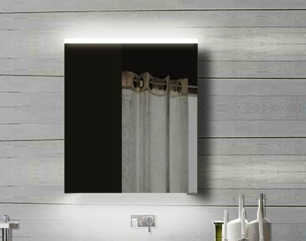 LED Design Spiegelschrank 1-Türig mit Alu-Rahmen. 60x70x12 cm ...