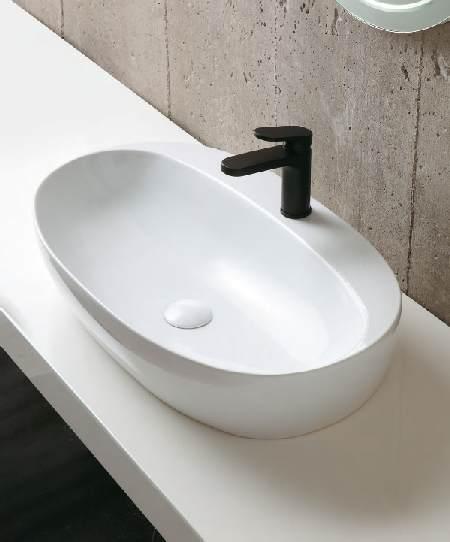 Becken Waschküche aufsatzwaschtisch linie elegance circle aus spezialkeramik