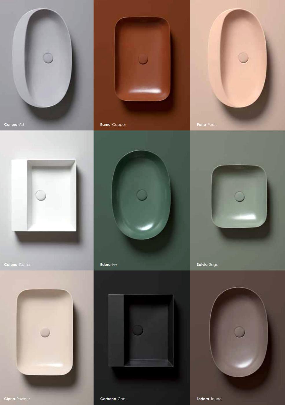 Waschbecken Farbig.Waschbecken Farbig Elegance In 9 Farben Von Azzurraceramica