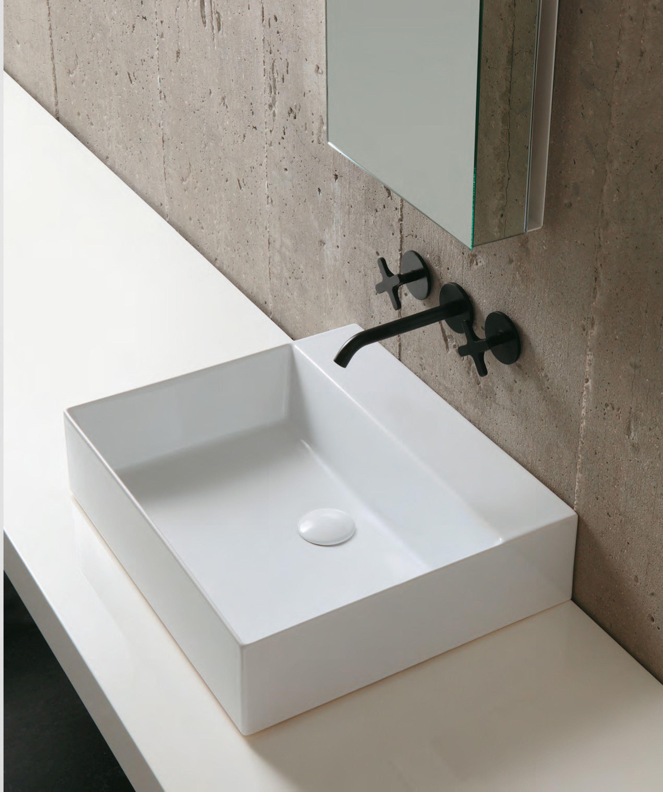 aufsatzbecken in spezialkeramik, linie elegance squared in neun, Badezimmer ideen