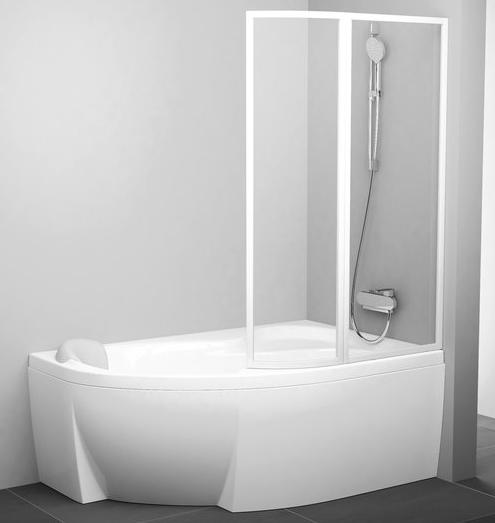 badewannentrennwand 2 teilig zur rosa 1 badewanne. Black Bedroom Furniture Sets. Home Design Ideas