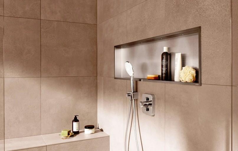 Wandnische mit LED; Nische Bad mit LED 30x60 cm; Nische mit ...