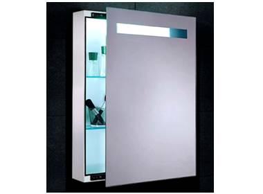 spiegelschrank led breite 45 cm mit schiebet r links rechts. Black Bedroom Furniture Sets. Home Design Ideas