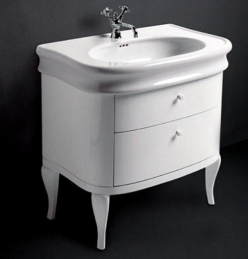 keramikwaschtisch retro design breite 90 cm linie lante. Black Bedroom Furniture Sets. Home Design Ideas