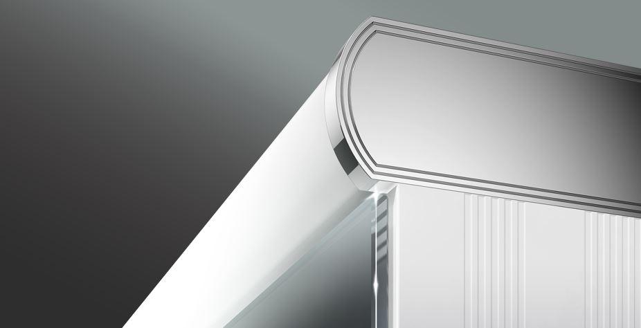 spiegelschrank leader led breite 100 cm von keller. Black Bedroom Furniture Sets. Home Design Ideas