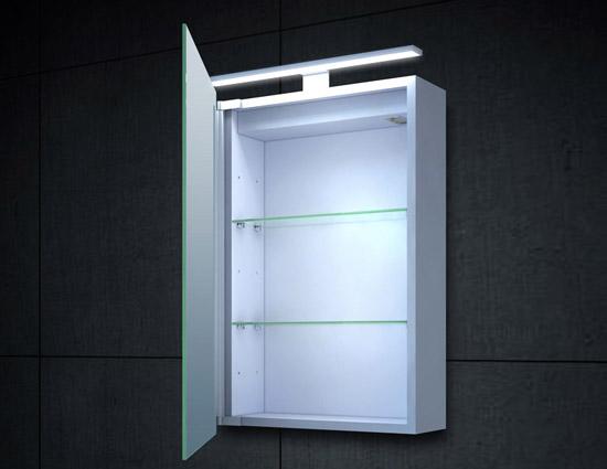 led spiegelschrank breite 40 cm h he 60 cm tiefe 14 5 cm. Black Bedroom Furniture Sets. Home Design Ideas