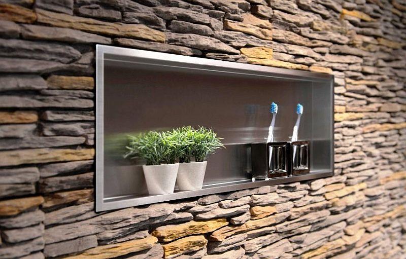Nische Badezimmer In Edelstahl 120x30 Cm Wandnische In