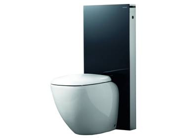 geberit monolith f r stand wc h 114 cm in schwarz. Black Bedroom Furniture Sets. Home Design Ideas