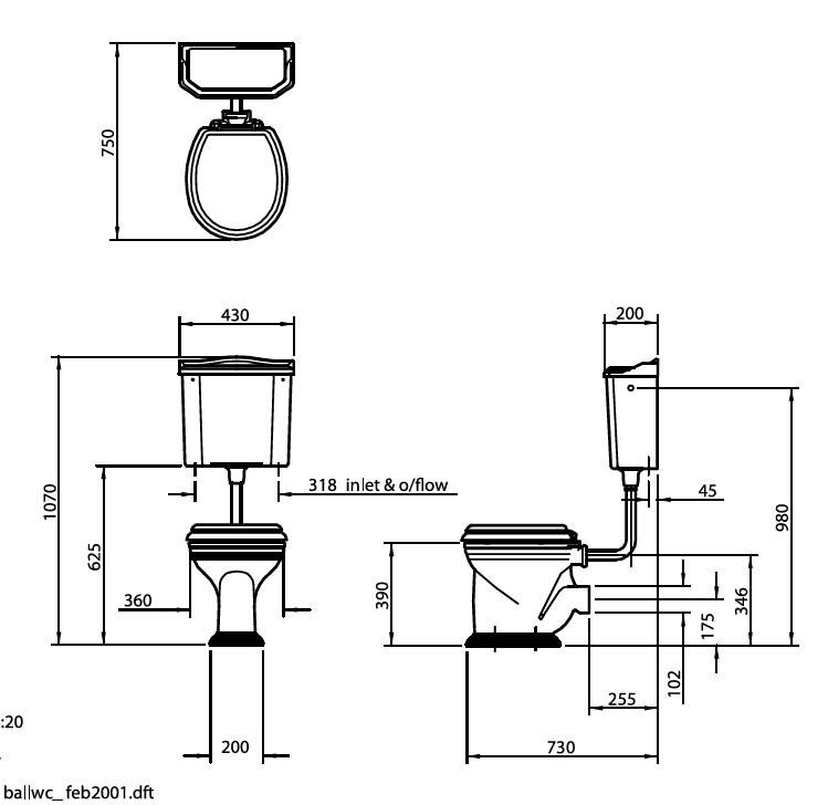 stand wc mit hoher zisterne in sanit rkeramik von. Black Bedroom Furniture Sets. Home Design Ideas