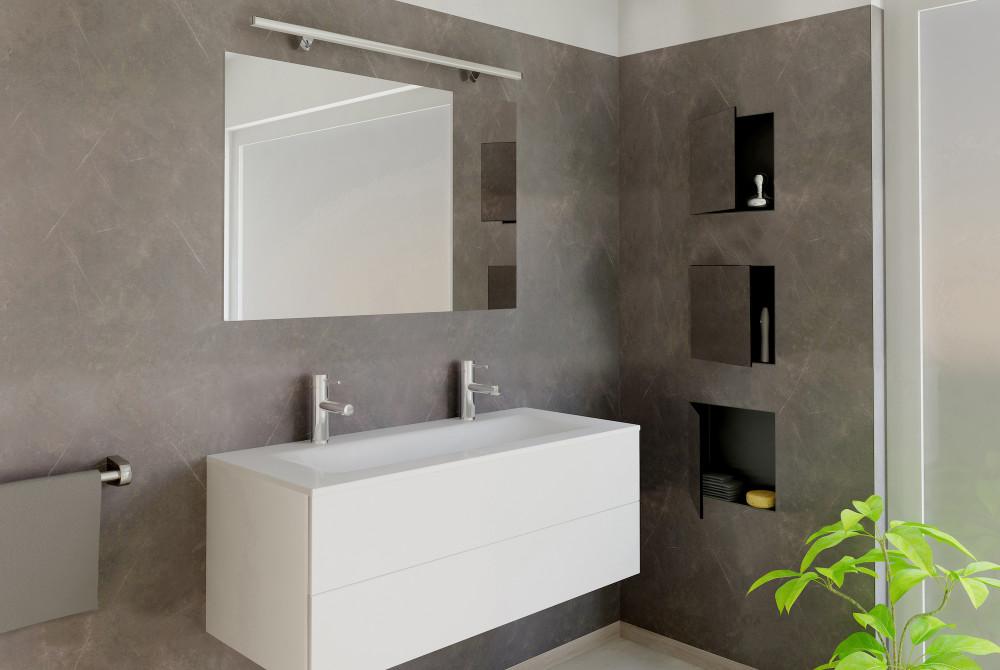 Wandnische mit Tür 15x30 cm; Duschnische mit Tür, Nische Bad ...