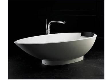 freistehende badewanne napoli aus quarrycast in hochglanz. Black Bedroom Furniture Sets. Home Design Ideas