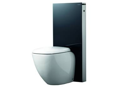 geberit monolith f r stand wc h 114 cm in schwarz. Black Bedroom Furniture Sets. Home Design Ideas